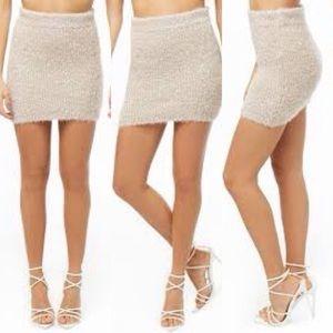Fuzzy Metallic Skirt